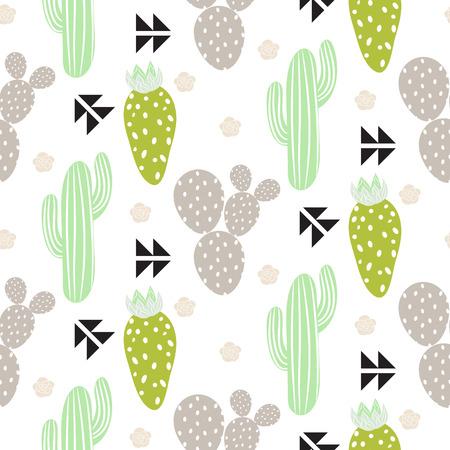 Cactus plant pattern.