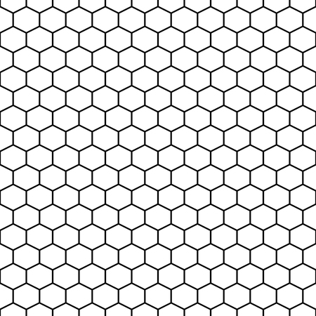 Hexagon grid cells vector seamless pattern. 版權商用圖片 - 84507362