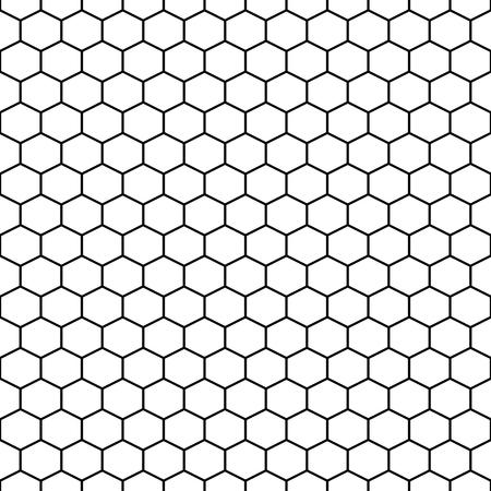 Sześciokąt siatki komórek wektora bezszwowych deseń.