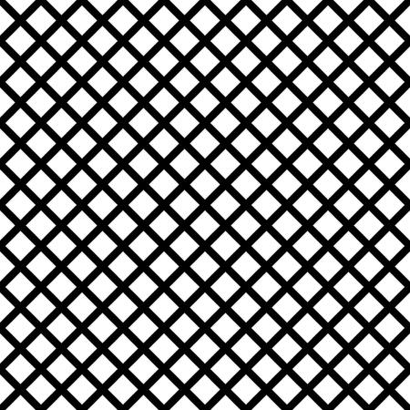 Chain-link geometric black on white seamless vector pattern. Illustration