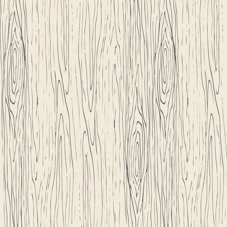 Seamless wood grain pattern. Wooden texture light beige and gray vector background.