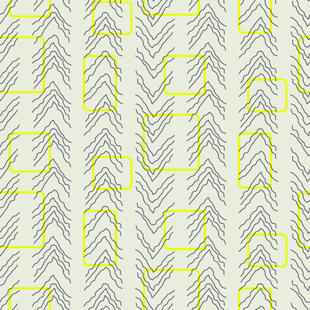 Tiny herringbone and rectangles line seamless vector pattern. Illustration