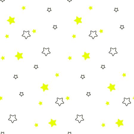 Star shape blue and green seamless kid pattern. Illustration