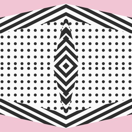 pink and black: Geometric pattern.