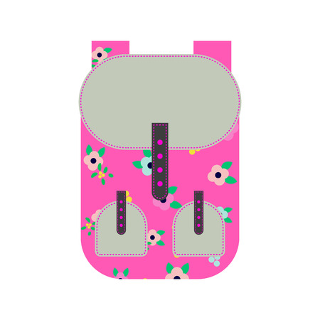 Pink backpack icon.