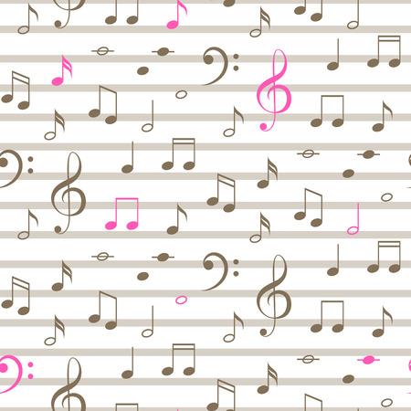 white sheet: Musical notes pattern.