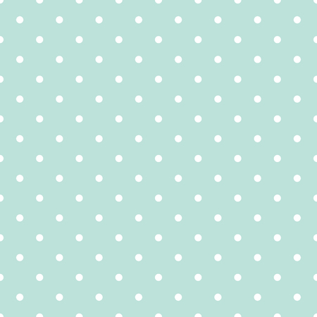 Blue and white polka dot baby seamless vector pattern. Illustration