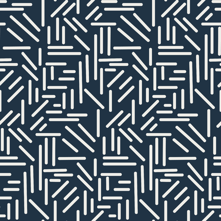 Dashes sticks seamless vector pattern. Geometric repeating background.