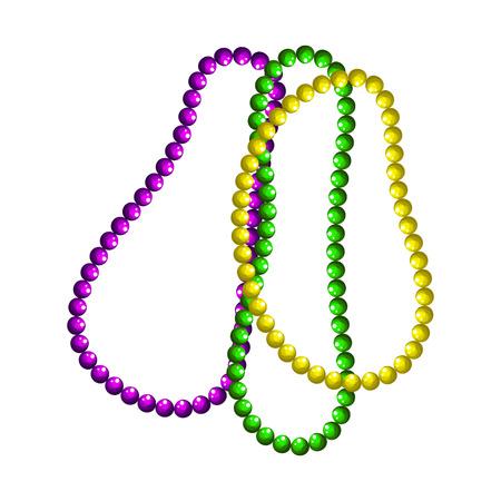 Mardi gras beads vector symbols. Vectores