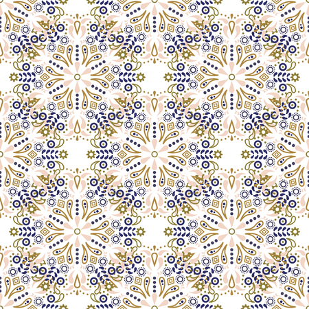 Mandala seamless vector pattern.