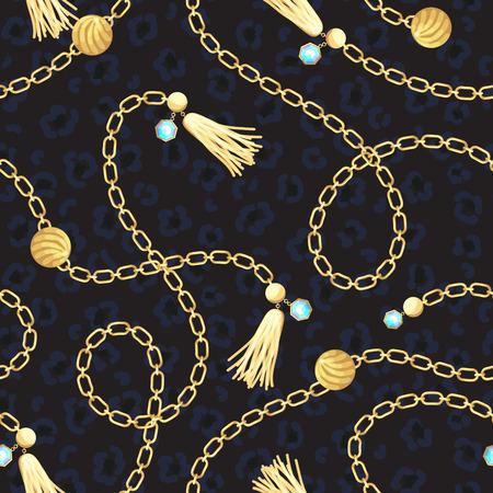 Diseño de moda de patrón de cinturón de oro de cadena. Foto de archivo