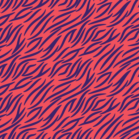 Tiger stripes seamless vector pattern pink and purple background repeat animal marks print. 일러스트