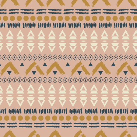 Ethnic boho blush pink geometric seamless pattern texture. Quiet colors neutral vector background. Ilustrace