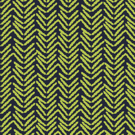 Herringbone blue and green hand drawn simple seamless texture. Sketched lines fashion ornament pattern for print and wallpaper.