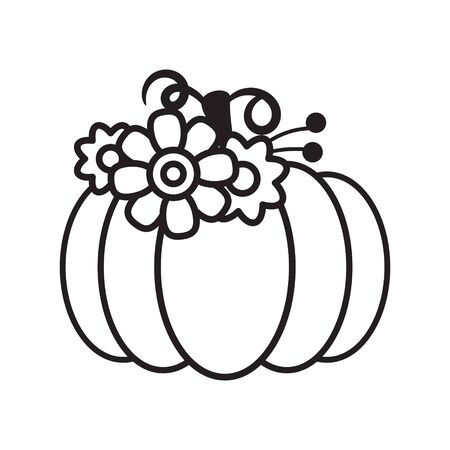 Vector cut out pumpkin decorative set. Pumpkin silhouette papercraft template stencil. Fall harvest stamp. Illustration