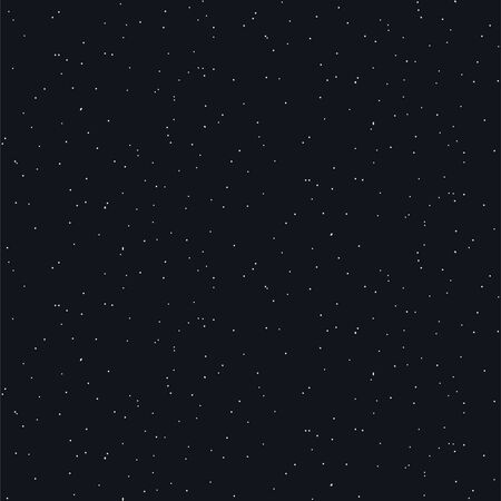 Starry night seamless vector pattern background blue and gold shapes in hand drawn style. Stars on sky repeat texture.