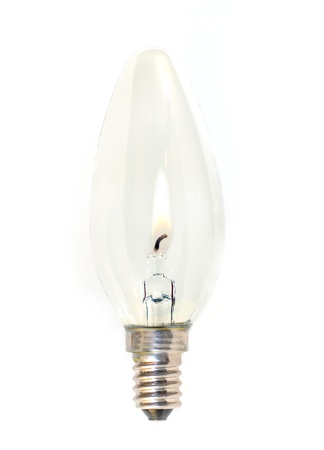 Isolate lightbulb with flame inside Stock Photo - 8823673