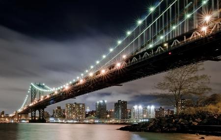 View under the Manhattan Bridge