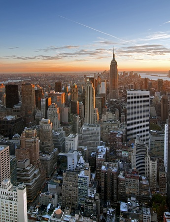 Sunset over Manhattan from Top of the Rock Stock Photo - 9663355