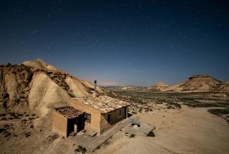 Stars over the Bardenas desert