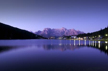 Lake in dolomites, italian alps