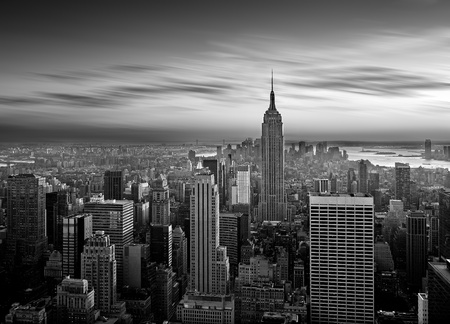 View of New York from the Rockefeller center Stock Photo