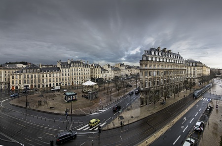 Town of Bordeaux in a cloudy day Stock Photo