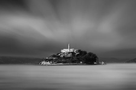 View of the Alcatraz prison