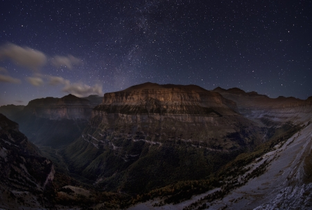 Starry mountains, north of Spain