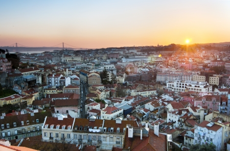 Panoramic of Lisbon from the hill