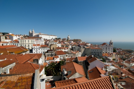 Panoramic of Lisbon from the hill photo