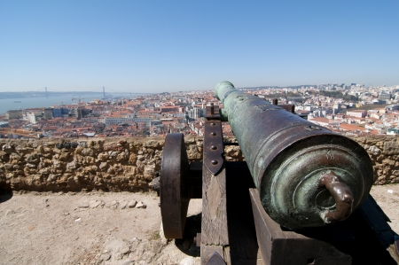 Panoramic of Lisbon from the castle
