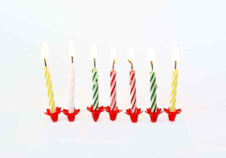 Illustrated Burning Birthday Candles in white background Stock Photo - 16687443