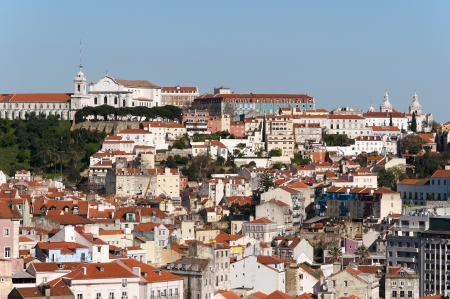 Beautiful view of Lisbon old city, Portugal photo