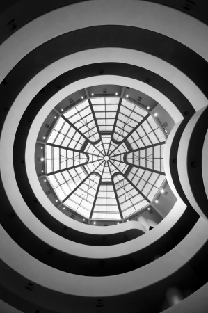 The Solomon R. Guggenheim Museum of modern and contemporary art Stock Photo