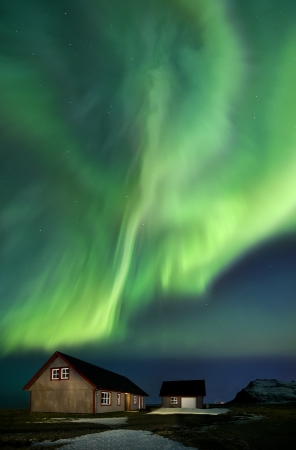 Flash of Aurora polaris above Iceland