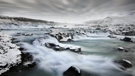 clody: Powerful river in Iceland, Urridafoss fall