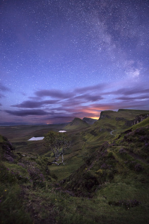 Quiraing view at night, Scottish Highlands, United Kingdom