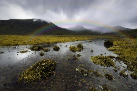 Rainbow over the Scottish Highlands, Isle of Skye