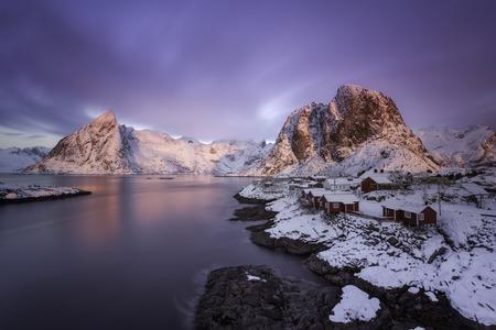 colorful sunrise: Colorful sunrise over Hamnoy, Lofoten islands
