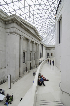 London, UK, September September 2012: British Museum Interior on September 9, 2012 in London, UK. Established in 1753 With collection of 8 million, it is Among the largest in the world.