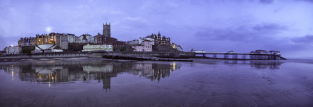 Cloudy day before sunrise over Cromer, United Kingdom