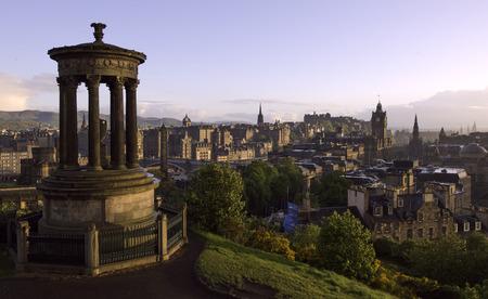 Sunset over Edinburgh, Scotland, United Kingdom