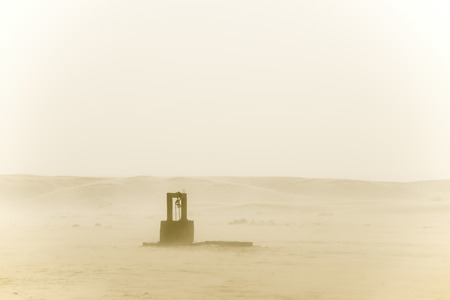 Old well in the middle of the desert, Moroccan Sahara
