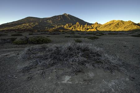 Sunset over Cañadas del Teide valley, Canary islands, Spain