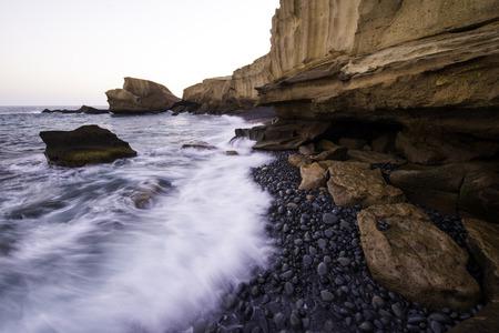 Tajao beach, South Tenerife, Canary islands, Spain
