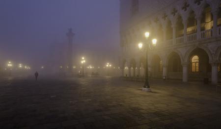 Walking through the mist, Venice, Piazza San Marco