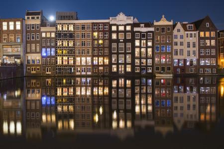 Amsterdam port by night, Holland Stock Photo