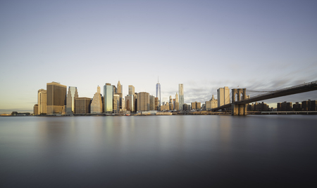 Sunrise over Manhattan in a clear morning of autumn, New York City