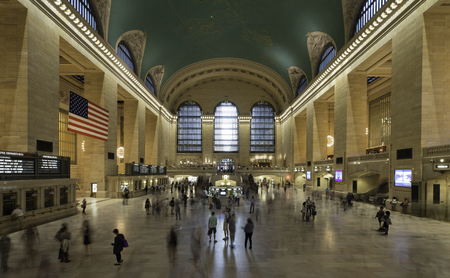 A busy day at Central Train Station, New York City